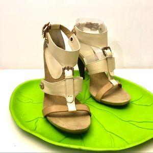 Nine West high heel strappy neutral sandal